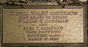 Inscription on Carnegie Medal (click to enlarge)