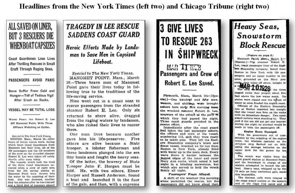 Headlines from NY Times and Chicago Tribune